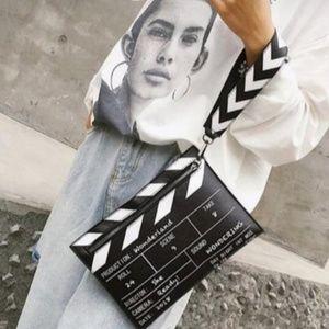 Handbags - Black and White Movie Prop Clutch Crossbody